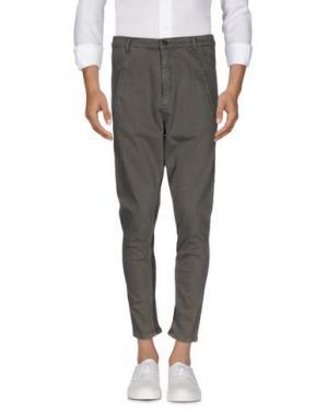 Джинсовые брюки SUPERFINE. Цвет: свинцово-серый