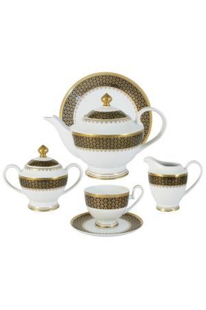 Чайный сервиз Чёрное золото Midori. Цвет: мультицвет