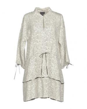 Короткое платье MAIYET. Цвет: белый
