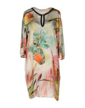 Короткое платье SHIRTAPORTER. Цвет: бежевый