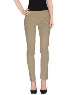 Повседневные брюки UZÈS. Цвет: зеленый-милитари