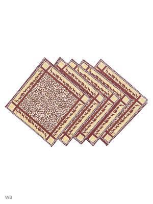 Набор платков носовых мужских Римейн. Цвет: желтый, коричневый