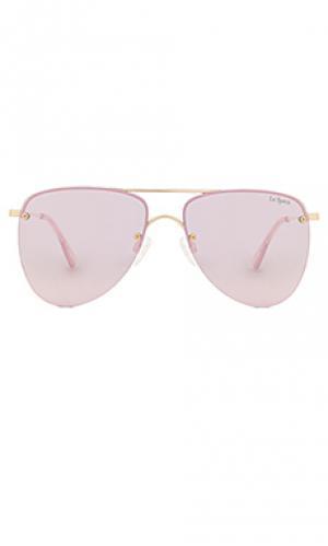 Солнцезащитные очки the prince Le Specs. Цвет: металлический золотой