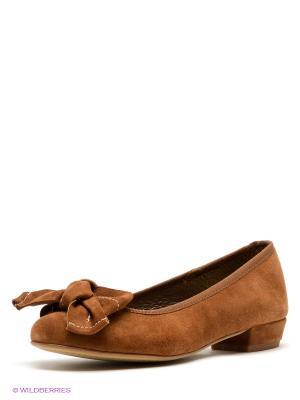 Балетки El Tempo. Цвет: коричневый