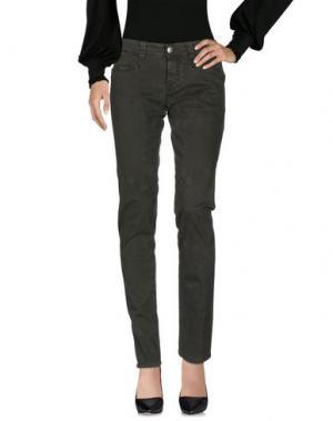 Повседневные брюки 9.2 BY CARLO CHIONNA. Цвет: темно-зеленый