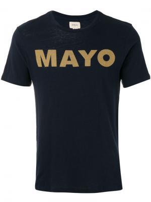 Slogan print T-shirt Bellerose. Цвет: синий