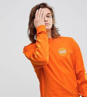 Vans Оранжевый оверсайз-лонгслив эксклюзивно для ASOS. Цвет: оранжевый