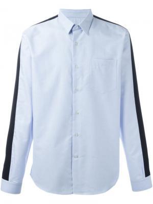 Рубашка с контрастными полосками Ami Alexandre Mattiussi. Цвет: синий