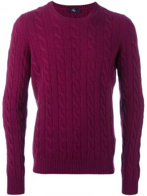 Вязаный свитер Fay. Цвет: розовый и фиолетовый
