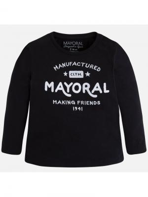 Лонгслив Mayoral. Цвет: черный