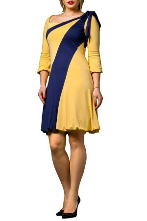 Платье JOELLE JO'ELLE. Цвет: желтый
