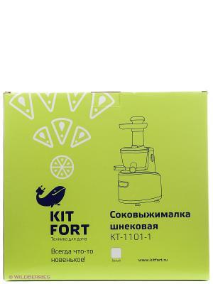 Соковыжималка шнековая Kitfort КТ-1101-1 150Вт. Цвет: белый