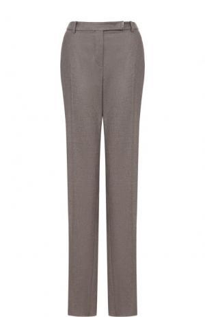Расклешенные кашемировые брюки со стрелками Loro Piana. Цвет: темно-бежевый