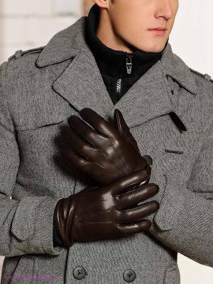 Перчатки Isotoner. Цвет: темно-коричневый