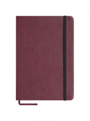 Записная книжка  Classic Velvet на резинке Office space. Цвет: бордовый