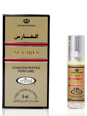Арабские масляные духи Аль Фарез (Al Fares), 6 мл Al Rehab. Цвет: темно-коричневый, светло-оранжевый, светло-коралловый