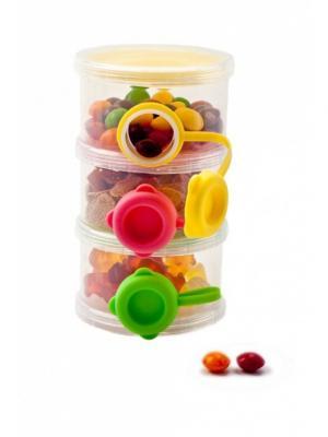 Трехслойный контейнер с боковыми отверстиями для пищевых сыпучих продуктов BRADEX. Цвет: зеленый, желтый, красный