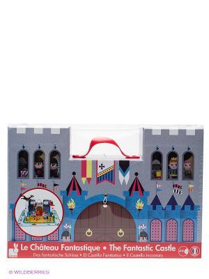 Набор конструктор Замок принца Janod. Цвет: белый, голубой