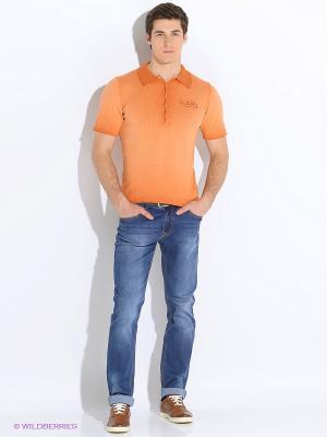 Поло VON DUTCH. Цвет: оранжевый