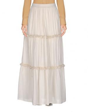 Длинная юбка SOUVENIR. Цвет: слоновая кость