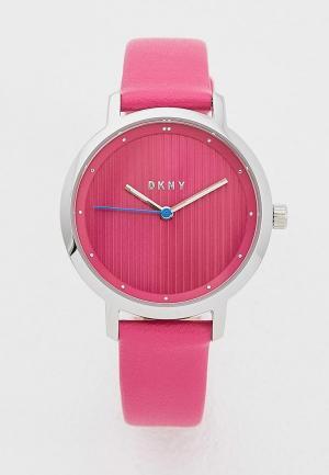 Часы DKNY. Цвет: розовый