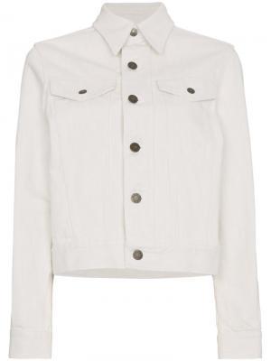 Джинсовая куртка Calvin Klein 205W39nyc. Цвет: белый