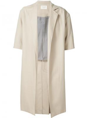 Пальто с короткими рукавами Fear Of God. Цвет: телесный