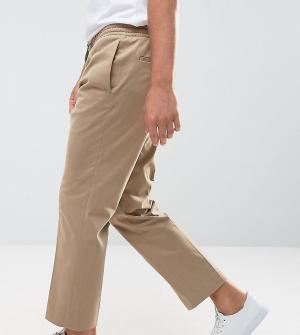Noak Укороченные брюки с широкими штанинами. Цвет: светло-бежевый
