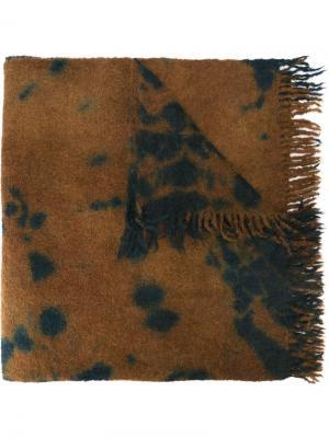 Шарф с бахромой Suzusan. Цвет: коричневый