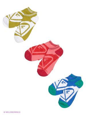 Носки JUNIOR INSDE SPARK LOGO NS, 3 пары ROXY. Цвет: белый, розовый, синий