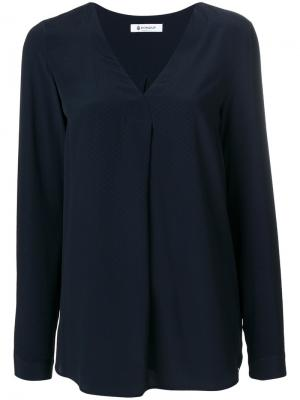 Блузка с V-образным вырезом Dondup. Цвет: синий