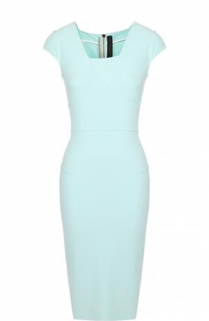 Платье-футляр с асимметричным вырезом Roland Mouret. Цвет: салатовый