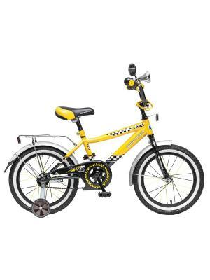 Велосипед 16 R Такси NOVATRACK. Цвет: черный, желтый