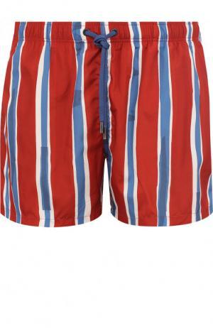 Плавки-шорты с принтом Ermenegildo Zegna. Цвет: красный