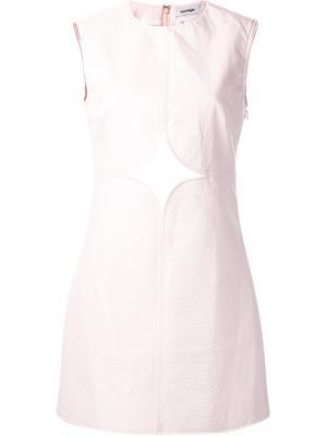 Платье с вырезными деталями Courrèges. Цвет: розовый и фиолетовый