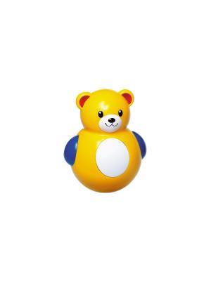 Неваляшка Медвежонок Tolo. Цвет: желтый