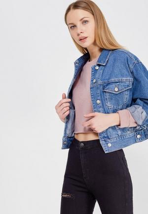 Куртка джинсовая Topshop. Цвет: синий