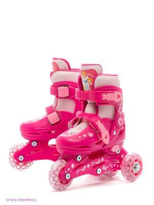 Ролики раздвижные Принцессы Disney. Цвет: розовый