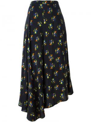 Асимметричные широкие брюки Ports 1961. Цвет: чёрный