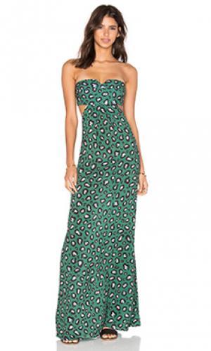 Макси платье ADRIANA DEGREAS. Цвет: синий
