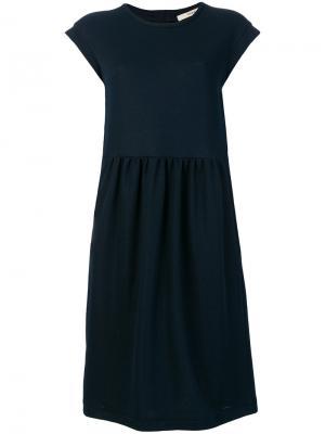 Приталенное платье средней длины Odeeh. Цвет: синий