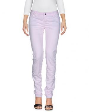 Джинсовые брюки JFOUR. Цвет: светло-розовый
