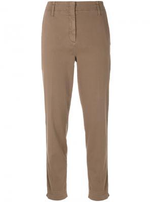 Укороченные брюки слим Luisa Cerano. Цвет: зелёный