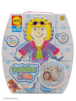 Набор фигурок стикеров для ванны Одень куклу Alex. Цвет: сиреневый