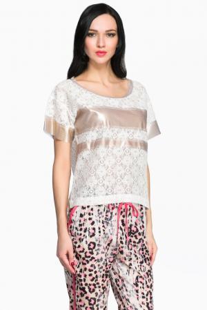 Je Talene Кружевная блуза 144380 T'alene. Цвет: белый