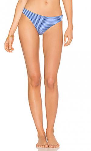 Marine eyelet stripe bikini bottom Shoshanna. Цвет: синий