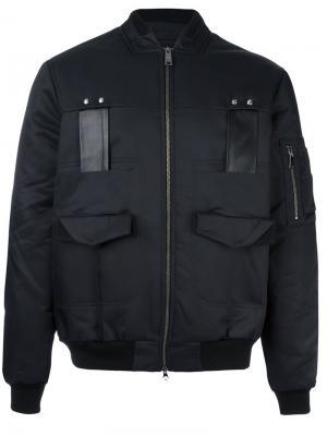 Куртка бомбер с карманами Les Benjamins. Цвет: чёрный
