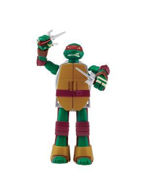 Черепашка-оружие трансформер, Рафаэль, Mutation Playmates toys. Цвет: красный