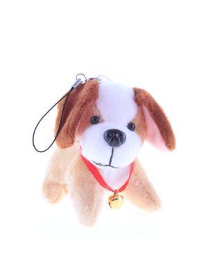 Брелок Собака символ года 2018 Радужки. Цвет: коричневый, белый