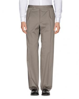 Повседневные брюки ANGELO NARDELLI. Цвет: голубиный серый